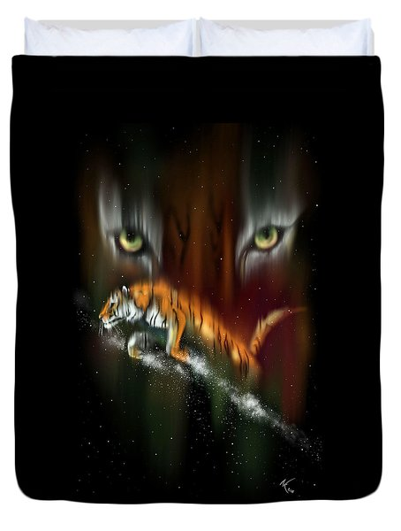 Tiger, Tiger Burning Bright Duvet Cover