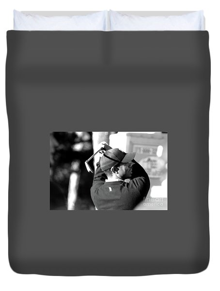 Tiger Woods Blk Wht  Duvet Cover