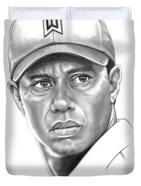 Tiger Woods Duvet Cover by Murphy Elliott