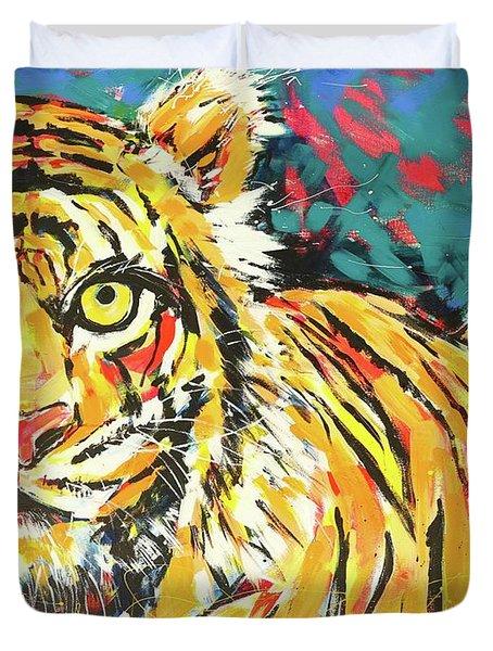 Tiger#1 Zoo Atlanta Duvet Cover
