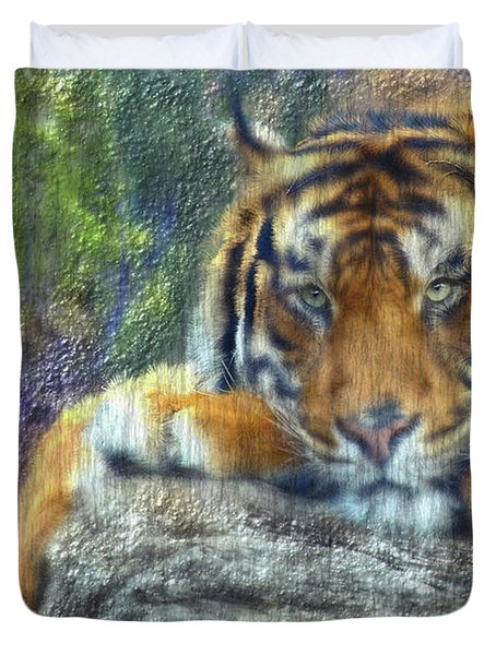 Tigerland Duvet Cover by Michael Cleere
