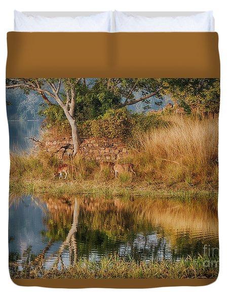 Tigerland Duvet Cover by Pravine Chester