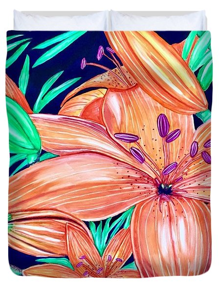 Tigerlilies Duvet Cover