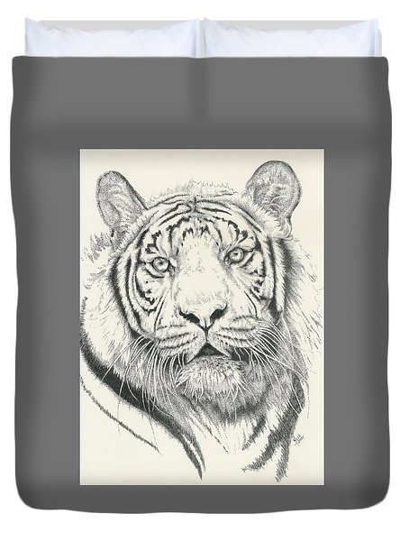 Tigerlily Duvet Cover by Barbara Keith