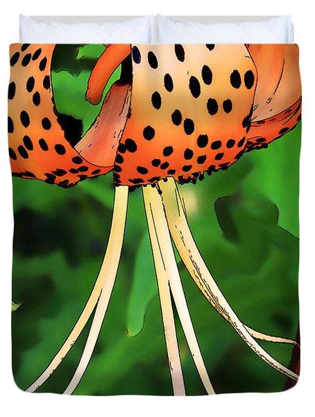Tigerlily Duvet Cover