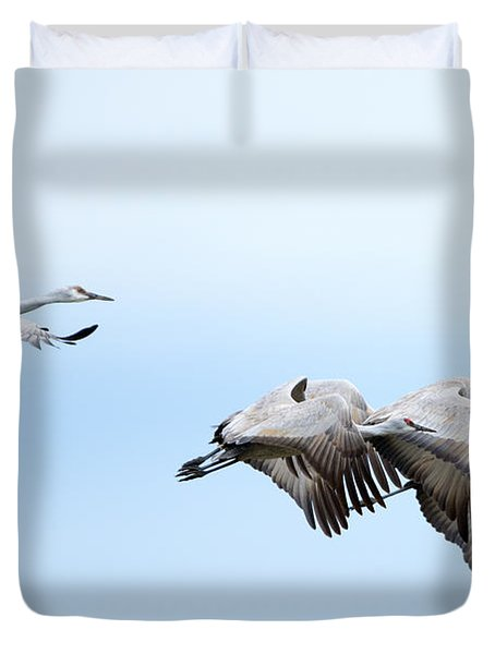 Tight Formation Duvet Cover by Mike Dawson