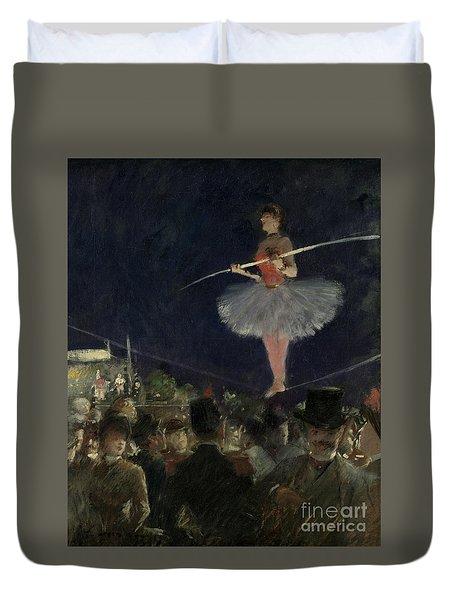 Tightrope Walker Duvet Cover