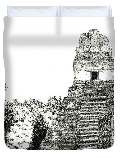 Tikal Temple I Duvet Cover