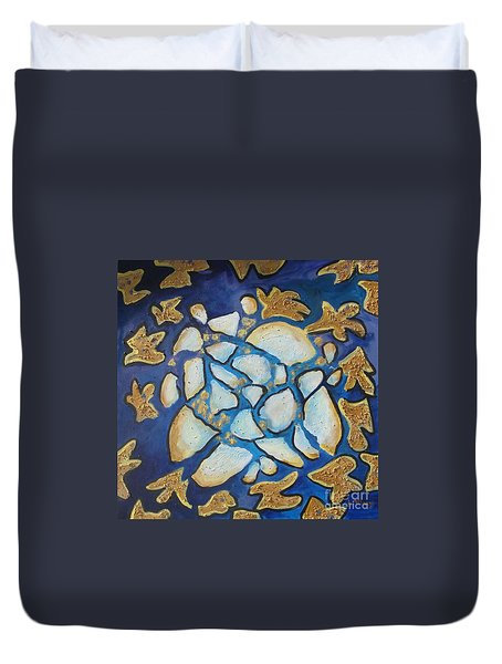 Tikkun Olam Heal The World Duvet Cover