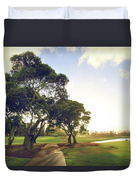 Duvet Cover featuring the photograph 'til I'm In Your Arms Again by Laurie Search