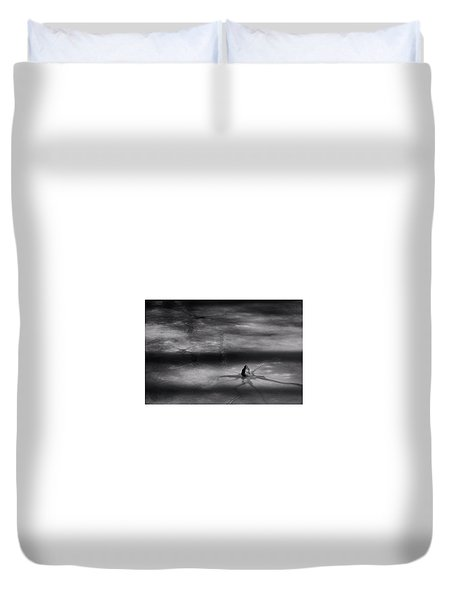 Duvet Cover featuring the photograph Til Spring by Mark Fuller