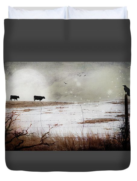 'til The Cows Come Home Duvet Cover
