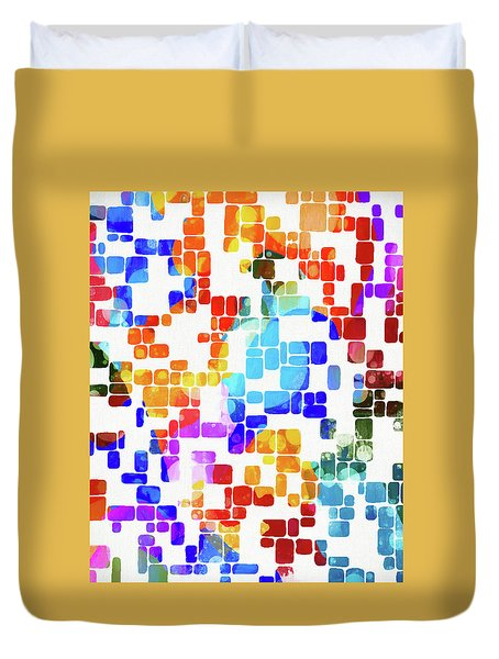 Tile Abstract Duvet Cover