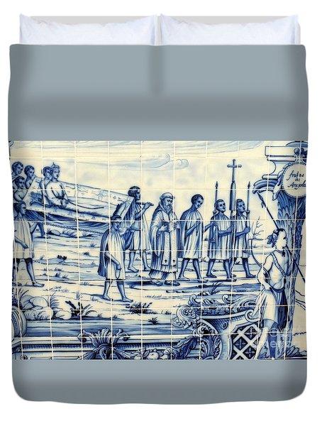 Tile Art Angola Duvet Cover