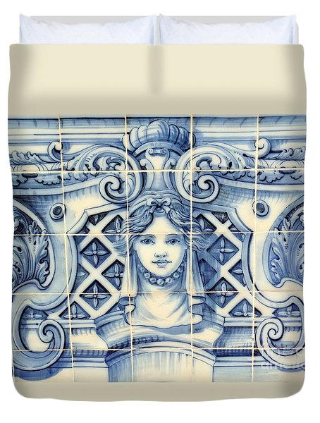 Tile Art In Fort Of Luanda, Angola Duvet Cover