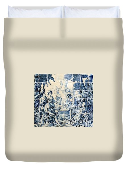 Tile Art Duvet Cover