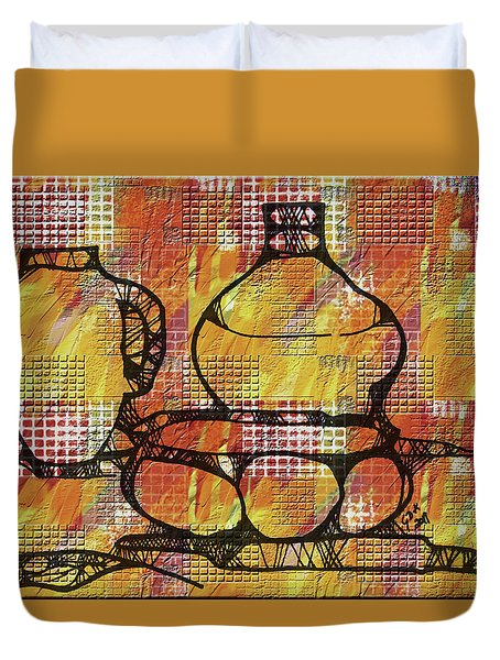 Tiled Pots Duvet Cover