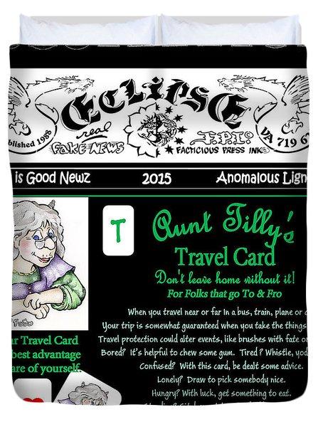 Real Fake News Tilly's Travel Card Duvet Cover