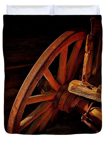 Tilted Wheel Duvet Cover