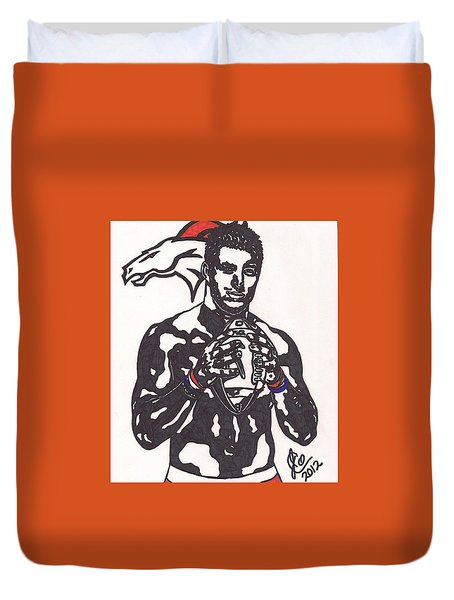 Tim Tebow 2 Duvet Cover by Jeremiah Colley