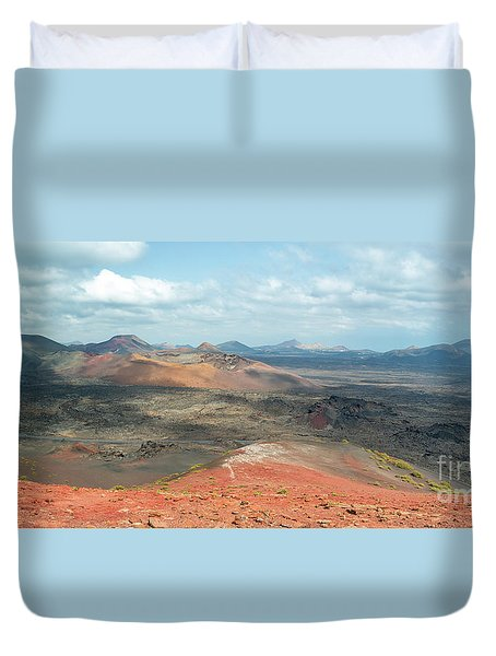Timanfaya Panorama Duvet Cover by Delphimages Photo Creations