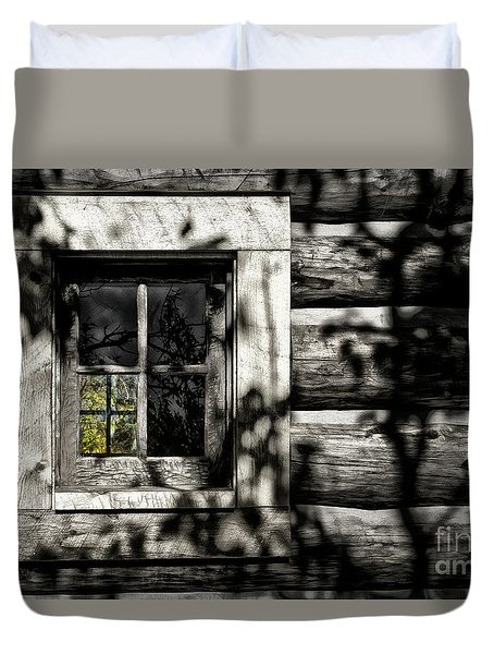 Duvet Cover featuring the photograph Timber Hand-crafted by Brad Allen Fine Art