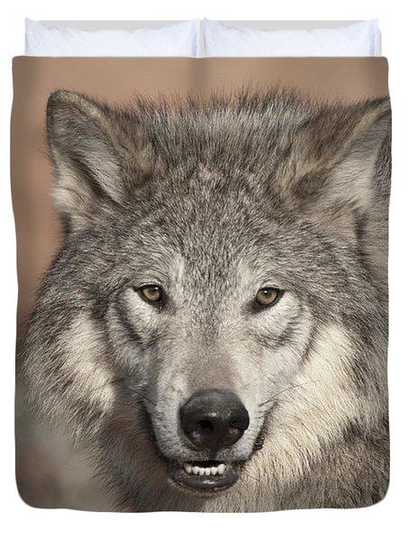 Timber Wolf Portrait Duvet Cover