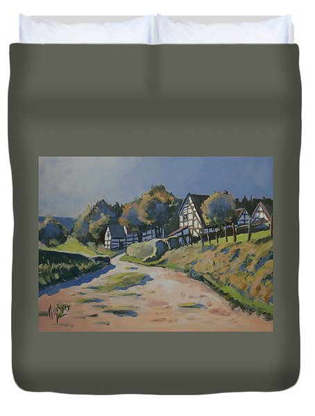 Timbered Houses In Terziet Duvet Cover