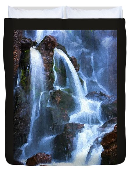 Timberline Falls Duvet Cover