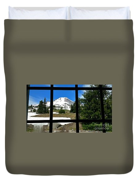 Timberline Lodge View Duvet Cover