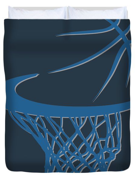 Timberwolves Basketball Hoop Duvet Cover