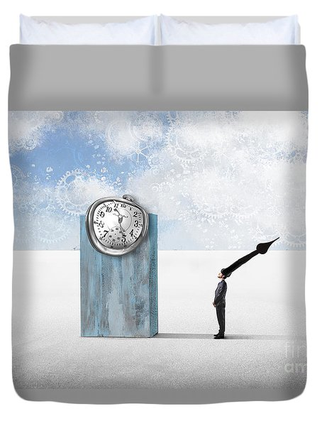Time  Duvet Cover by Aimelle ML