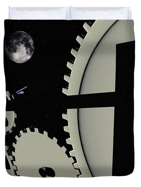 Time And Space Duvet Cover by Richard Rizzo