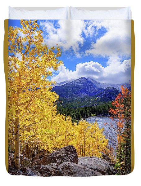 Time Duvet Cover by Chad Dutson