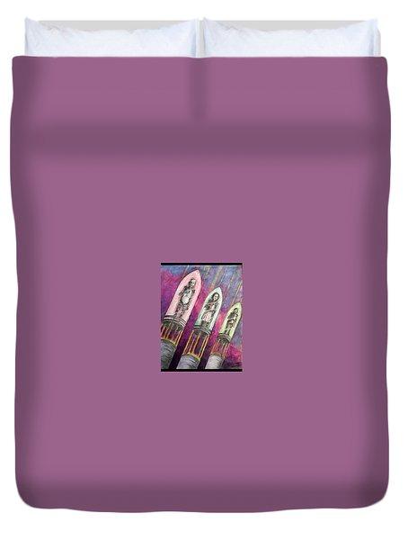 Time  Column Duvet Cover
