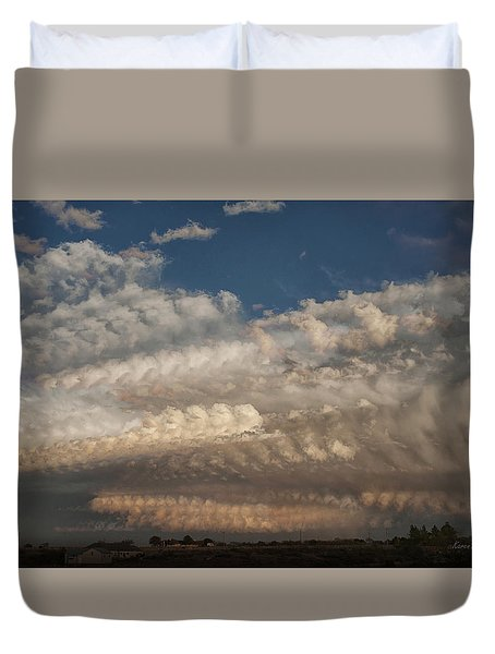 Time Flies Duvet Cover