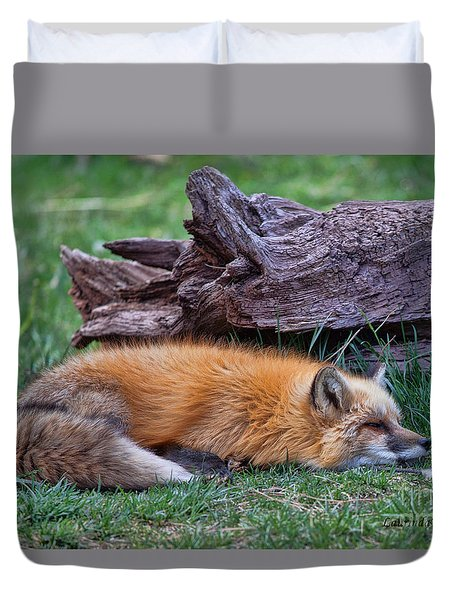 Duvet Cover featuring the photograph Time For A Nap by Laurinda Bowling