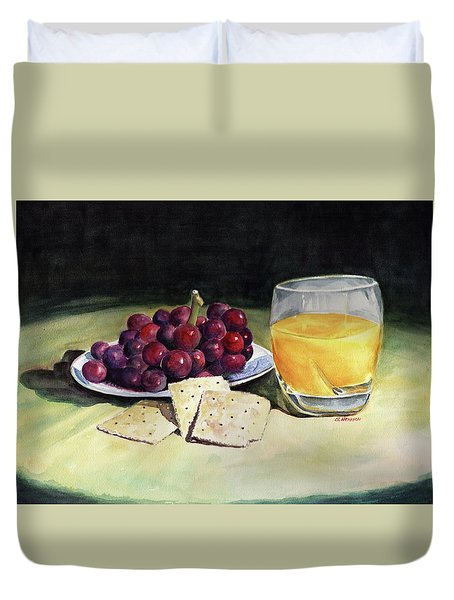 Time For A Snack Duvet Cover