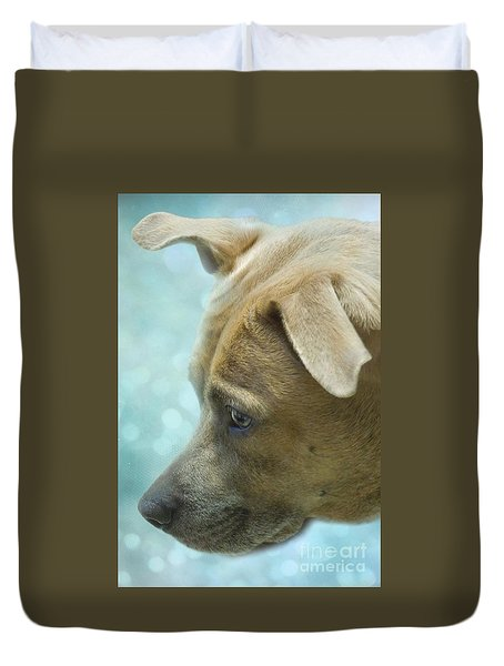 Duvet Cover featuring the photograph Time For A Swim by Renee Trenholm