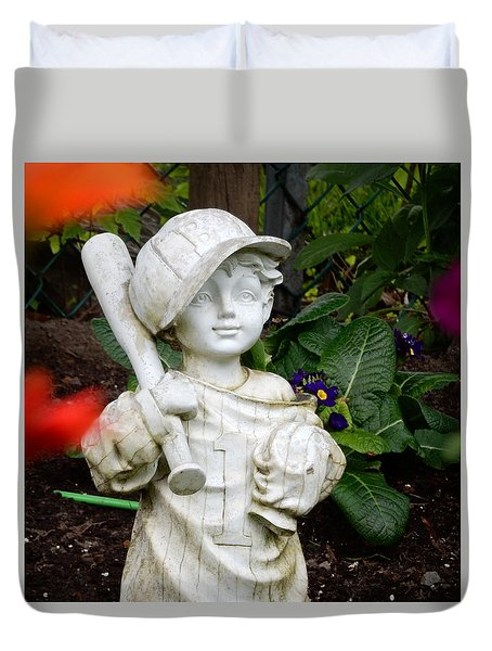 Duvet Cover featuring the photograph Time For Some Baseball by Betty-Anne McDonald