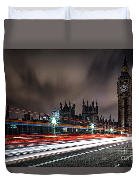 Time Duvet Cover by Giuseppe Torre