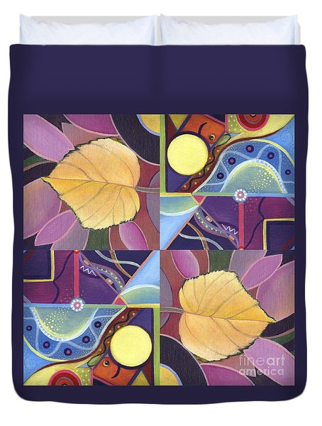 Time Goes By - The Joy Of Design Series Arrangement Duvet Cover by Helena Tiainen