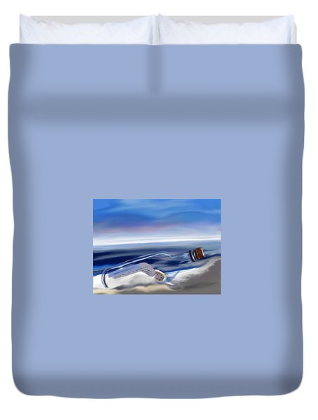 Time In A Bottle Duvet Cover
