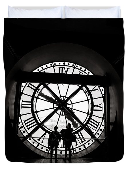 Time - Paris, France Duvet Cover