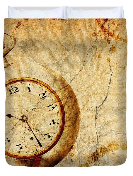 Time Duvet Cover by Michal Boubin