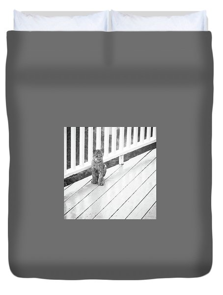 Time Out Bw Duvet Cover