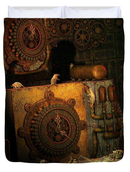 Time Passes Duvet Cover by Jutta Maria Pusl