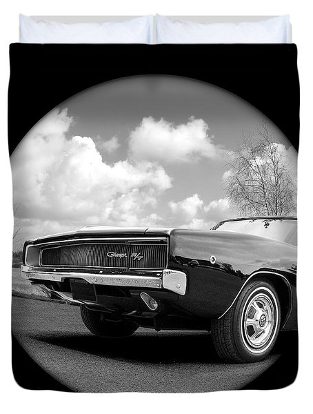 Time Portal - '68 Dodge Charger Duvet Cover