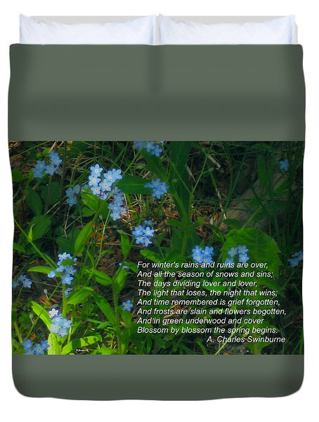 Time Remembered Is Grief Forgotten Duvet Cover