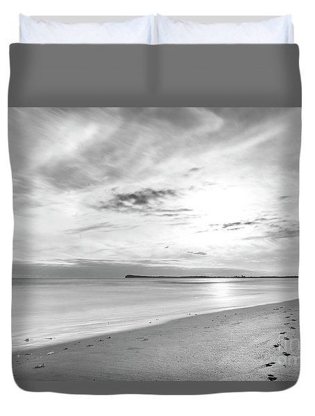 Duvet Cover featuring the photograph Time Stood Still by Linda Lees